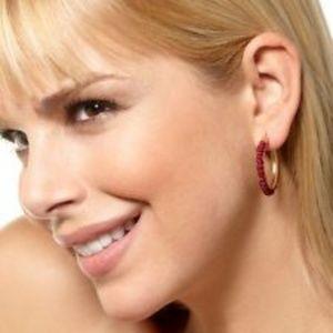 Jewelry - New in Box Jeweled Small Hoop Earrings